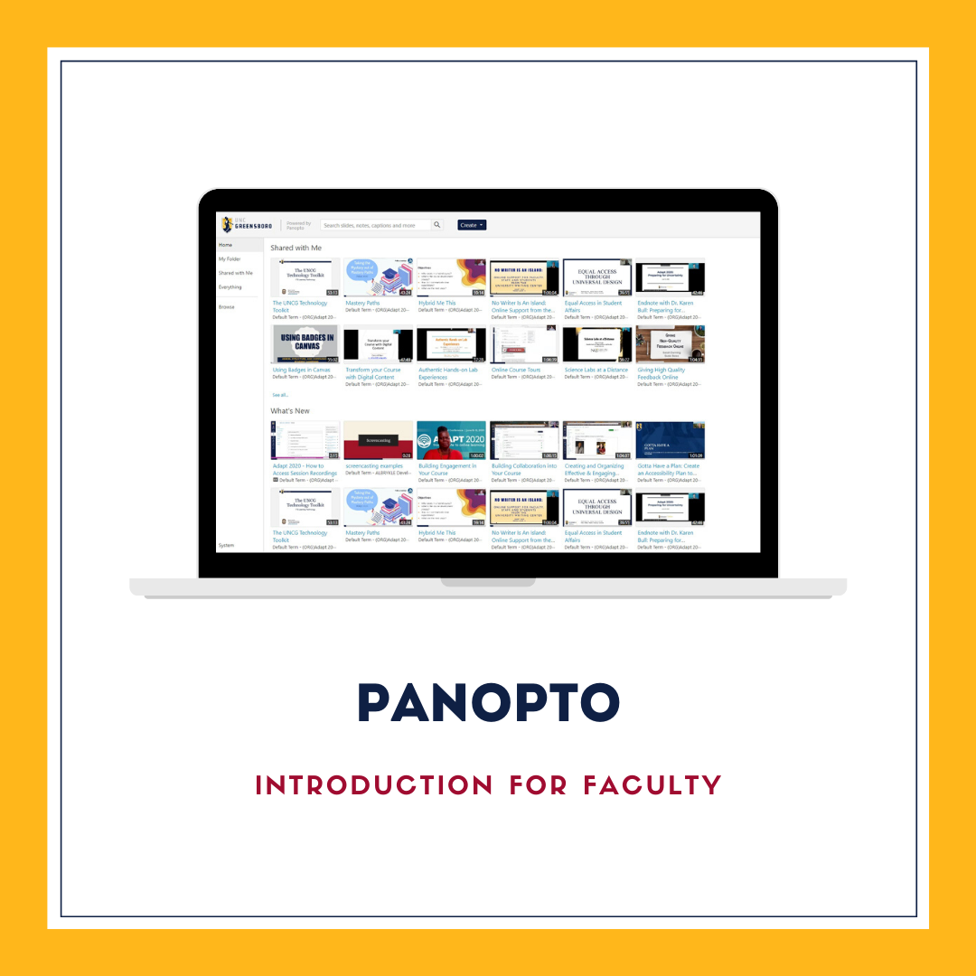 Panopto Introduction for Faculty