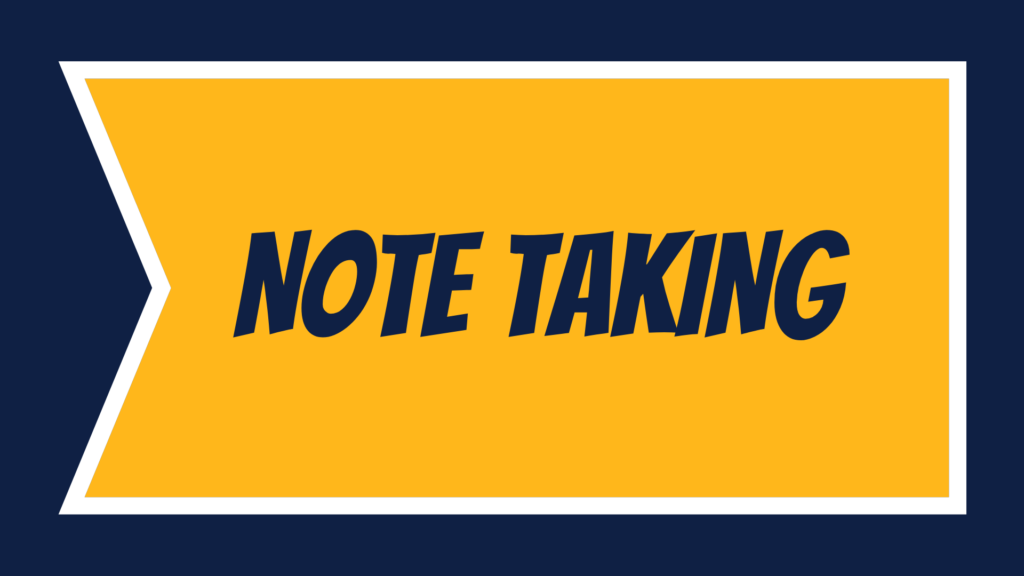Note Taking banner