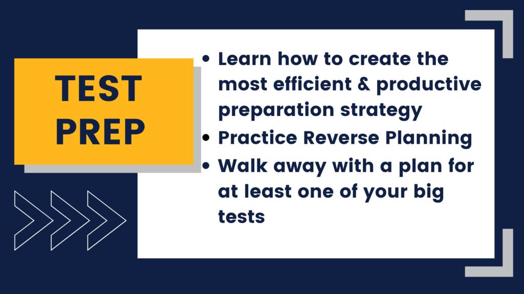 Test prep event