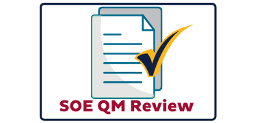 SOE Quality Matters Review