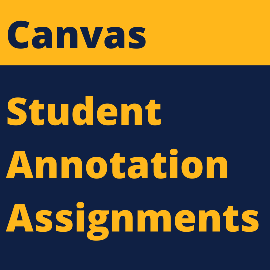 Canvas Student Annotation Assignments